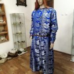 Kazar bazar - Kaftan reconstruction with our Blue Senmurv Silk